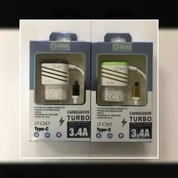 Carregador celular turbo tipo C