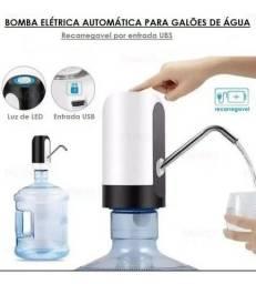 Bomba Elétrica Universal com Carregamento USB para Galão/Garrafão de Água