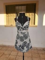Vestido Estampado Curto - Tam G