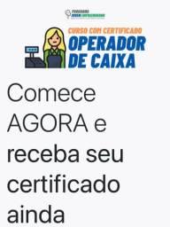 Curso - OPERADOR DE CAIXA on line com certificado