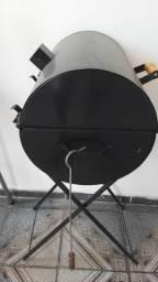 Churrasqueira com tampa para preparo no bafo