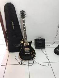 Guitarra Less Paul Memphis + Amplificador Strinberg