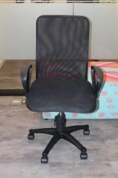 Cadeira de escritório / em Tecido Preto 100 cm x  60 cm x  50 cm