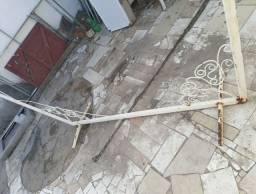 Suporte com Rede em Bambu