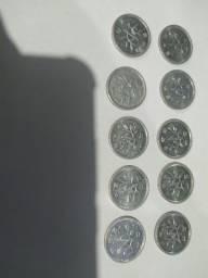 Lote9, com 10moedas japonesa,de 1 yen,