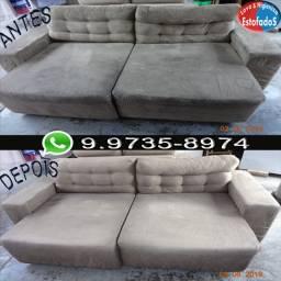 Limpeza sofá / Reparo em sofá rasgado, descosturado ou com furo