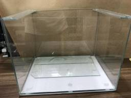 Aquario com vidro extra clear novo 40x30x30cm
