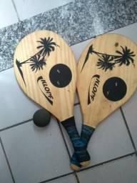 Kit frescobol 2 raquetes e bola incluso 002102f663