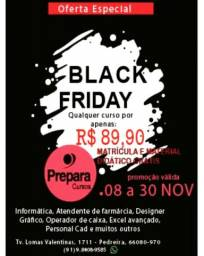 Black friday prepara cursos pedreira