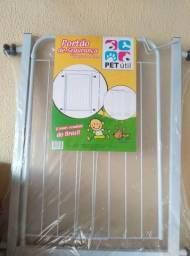 Portão Grade Proteção Pet Útil Branco 69 + 10 cm de extensor p/ Criança e Cães. Valor 125