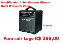 Amplificador Cubo Meteoro Nitrous Na30 W Rms P/ Violao ( usado )