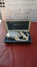 Barbeador antigo elétrico Philips no estojo p/colecionador 85,00