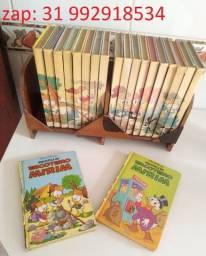Biblioteca do Escoteiro Mirim completa com estante em madeira