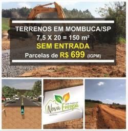 Terreno Sem Entrada em Mombuca/SP