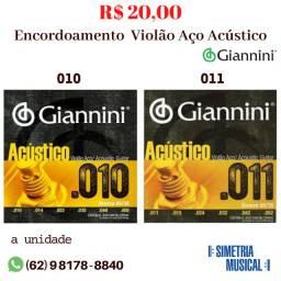 Encordoamento Violão Aço Giannini