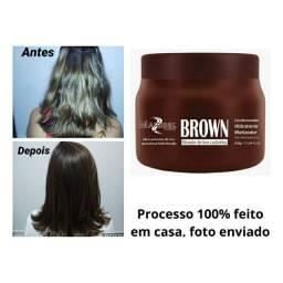 Matizador Hidratante Brown Para Cabelo Castanho Mairibel 500<br><br><br>