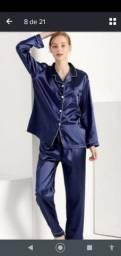 Pijama cetim feminino e masculino