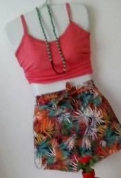 Conjuntos de short e blusa