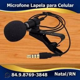 Microfone Lapela P3 para Celular