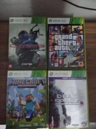 4 jogos para Xbox 360 usados em boas condições, GTA V, CRYSES 3, MINECRAFT E DEAD SPACE 3