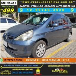 Honda Fit 2004 parcelas de 499 reais ao mês 1.4 LX Manual