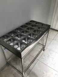 Pista fria 18 cubas em inox com gelo tech