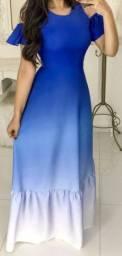 Vestido longo lindo azul