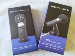 Gravador Zoom H1n + pack de acessórios