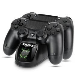 Base de carregamento dublo para controles PS4 Dobe