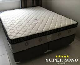 Conjunto Cama Box Petrus Premium Ortobom Queen Size 158x198 Mola Mola Ensacada