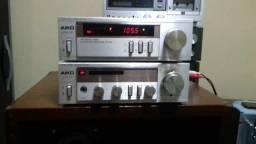 conjunto Aiko, amplificador e Turner, não acompanha tap dek.e caixas
