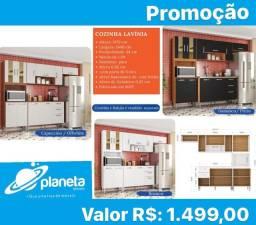 armário de cozinha com balcão em promoção