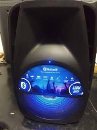 Caixa Amplificada 400w Mondial com Bluetooth, USB e Rádio FM