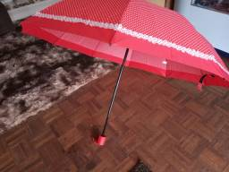 Guarda-chuva gigante dobrável que cabe na bolsa...