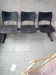 Cadeira para escritório com 3 lugares