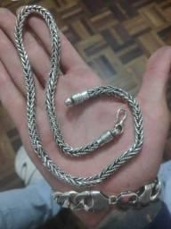 Corrente de prata Bali 78 grama