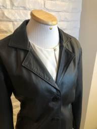 Jaqueta couro legítimo feminino