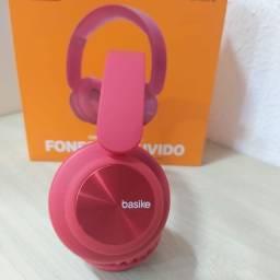 Fone sem fio linha premium Basike, FON-6678, bluetooth