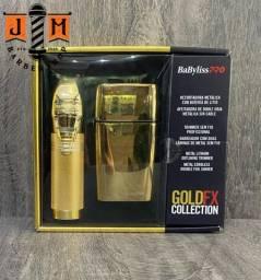 Combo Babyliss Pro Gold FX Acabamento e Shaver ORIGINAL novo lacrado - somos loja física
