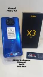 Celular Xiaomi Poco X3 128GB/6Ram Camera 64 MP Novo Com Garantia Somos Loja
