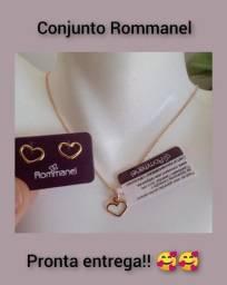Conjunto Rommanel Amor (pingente+gargantilha+brincos)