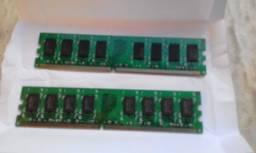 Kit duas placas de memória DDR2 800mhz PC 6400u 4 GB