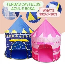 Barraca Tenda Castelo Rosa e Azul
