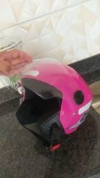 Capacete aberto rosa