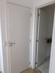 """2 Portas de madeira com batente de madeira e fechadura - Branca """"Super nova"""""""