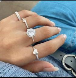 Anéis em prata pura