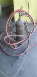 1 Garrafa de oxigênio com manometro e maçarico 6