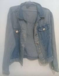 Jaqueta feminina jeans claro G