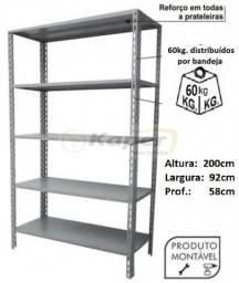 Estante de Aço prof. 58cm Industrial ( nova )