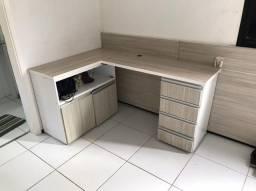 Mesa de canto com gavetas (MDF)